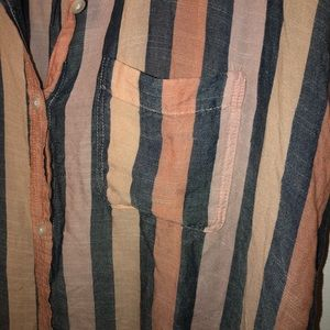 American Eagle Outfitters Tops - American Eagle Vintage Wash Striped Button Down